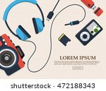 set of gadget with photo camera ... | Shutterstock .eps vector #472188343