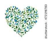 isolated watercolor heart shape ... | Shutterstock . vector #472198783