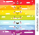 cute colorful stripes ...   Shutterstock .eps vector #472214113