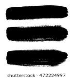 set of brush strokes | Shutterstock .eps vector #472224997