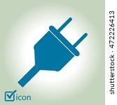 vector electrical plug web flat ...