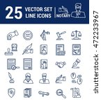 vector set of icons in a linear ... | Shutterstock .eps vector #472233967