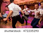 wedding party. groomsmen having ... | Shutterstock . vector #472235293