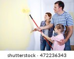 mother  father and little... | Shutterstock . vector #472236343