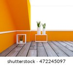 orange empty interior with... | Shutterstock . vector #472245097