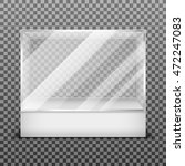 transparent display glass box... | Shutterstock .eps vector #472247083