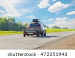 suv with trailer goes on... | Shutterstock . vector #472251943