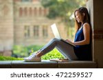 young asian student on... | Shutterstock . vector #472259527