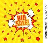 big sale comic banner template. ...   Shutterstock .eps vector #472264777