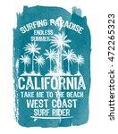 watercolor california... | Shutterstock .eps vector #472265323