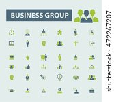 business group icons | Shutterstock .eps vector #472267207