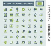 interactive marketing media... | Shutterstock .eps vector #472271137