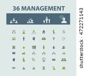management icons | Shutterstock .eps vector #472271143