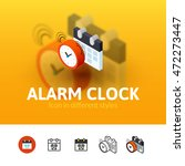 alarm clock color icon  vector...