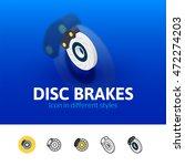 disc brakes color icon  vector...   Shutterstock .eps vector #472274203