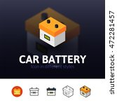 car battery color icon  vector... | Shutterstock .eps vector #472281457