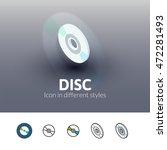 disc color icon  vector symbol...