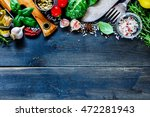 tasty cooking set with vintage... | Shutterstock . vector #472281943