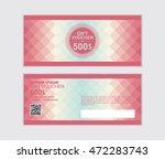 pink gift voucher vector design ... | Shutterstock .eps vector #472283743