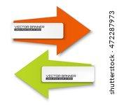 vector arrow banners set. white ... | Shutterstock .eps vector #472287973
