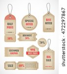 vector stickers  price tag ... | Shutterstock .eps vector #472297867