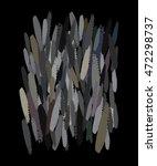 abstract art on black   Shutterstock .eps vector #472298737
