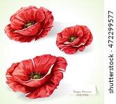 poppy flowers. illustration of... | Shutterstock .eps vector #472299577