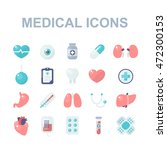 medical icons set. vector... | Shutterstock .eps vector #472300153