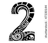 number ornament   2   | Shutterstock .eps vector #47230144