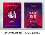 electro night and night city... | Shutterstock .eps vector #472313467