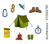 hiking tools vector illustration   Shutterstock .eps vector #472332787