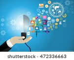 businessman hand with the... | Shutterstock .eps vector #472336663