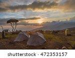 Tent After Rain On Kilimanjaro