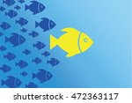 leadership concept fish | Shutterstock .eps vector #472363117