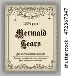 halloween apothecary label in... | Shutterstock .eps vector #472367347
