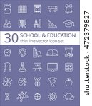 outline icon collection  ... | Shutterstock .eps vector #472379827