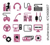 gamer  gaming gear icon set | Shutterstock .eps vector #472400857