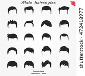 set different man hairs styling ... | Shutterstock .eps vector #472418977