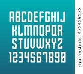 rounded font. vector alphabet... | Shutterstock .eps vector #472429273