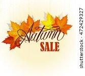 beautiful hand drawn autumn... | Shutterstock .eps vector #472429327
