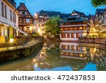 quaint timbered houses of... | Shutterstock . vector #472437853