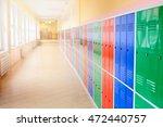 colorful metal lockers | Shutterstock . vector #472440757