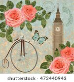 london vintage card. | Shutterstock .eps vector #472440943
