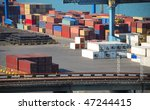 port warehouse with containers... | Shutterstock . vector #47244415