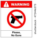 prohibiting sign for weapons.... | Shutterstock .eps vector #472446373