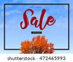 brilliant autumn sale template... | Shutterstock . vector #472465993