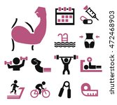 healthy and fitness icon set | Shutterstock .eps vector #472468903