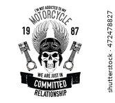hand drawn vector motorcycle...   Shutterstock .eps vector #472478827