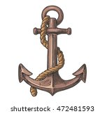 anchor isolated on white... | Shutterstock .eps vector #472481593