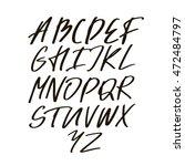 vector alphabet letters.black ... | Shutterstock .eps vector #472484797